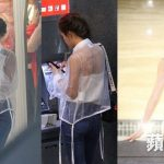 Sexy Kelly Fu wore a white transparent top while shopping