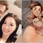 Roxanne Tong receives a special gift from her friend