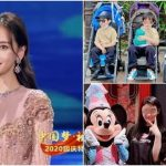Angelababy takes her son to the theme park