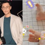 Raymond Lam's wife Carina Zhang shows their daughter's legs